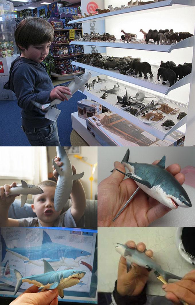 Фотографии фигурок акул