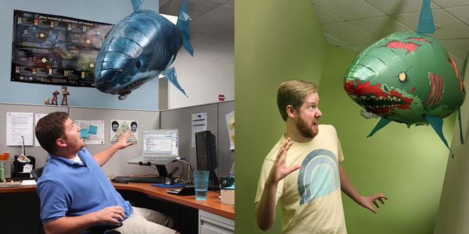 Фото игрушки - летающая надувная акула на управлении