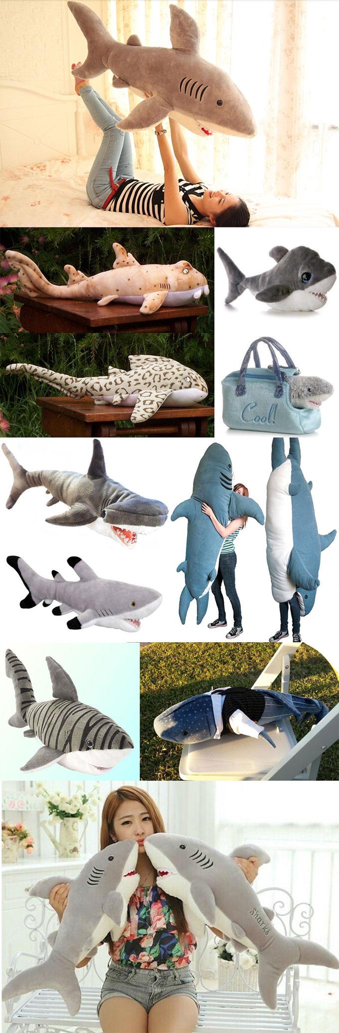 Фотографии мягких плюшевых игрушек Акулы