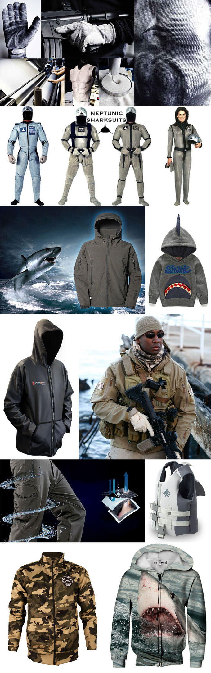 Фотографии спецодежды - куртки и гидрокостюмы Акула