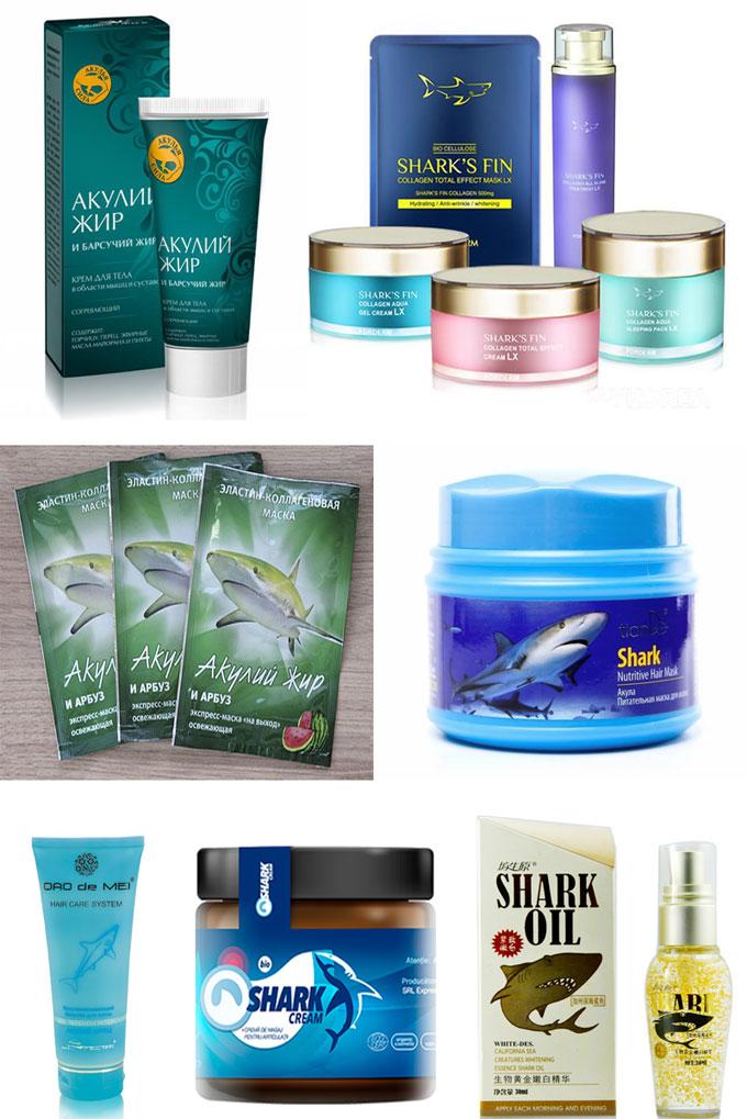 Препараты для ухода за кожей и телом из акулы