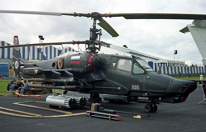 Вооружение вертолета Черная акула