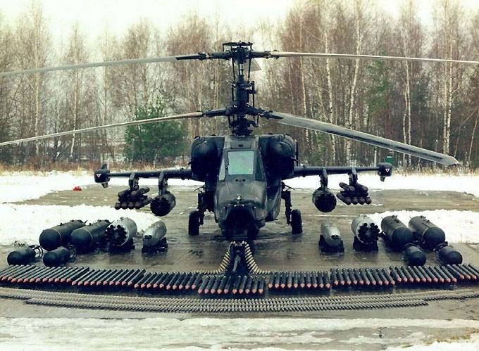 Оружие на штурмовом вертолете Ка-50