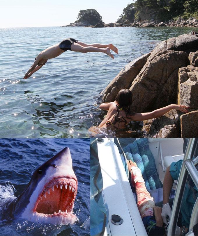 Нападение белой акулы в Приморье
