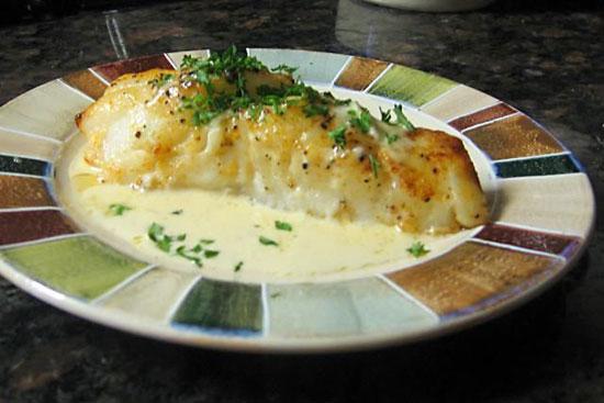 Рецепт - акула в фольге под сливочным соусом
