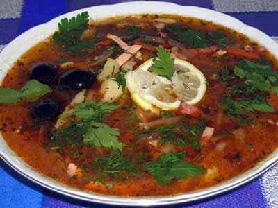Экзотическая рыбная солянка