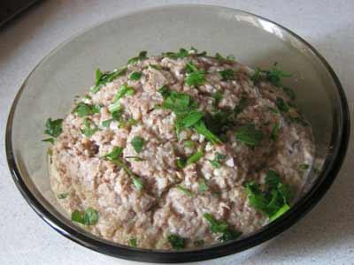Рецепт - Салат из акулы с рисом и лимоном