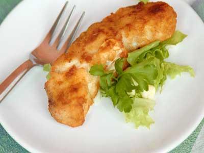 Рецепт - Акула запечённая в сухарях