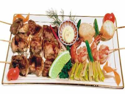 Рецепт - Шашлык из морепродуктов с акулой