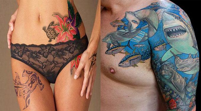 Татуировка доброй акулы