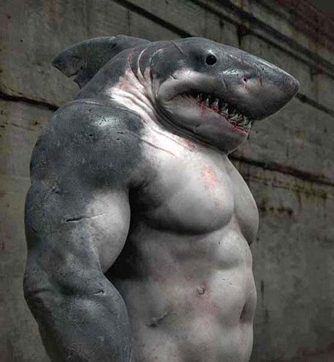 Фото: военная акула-мутант - солдат-зомби