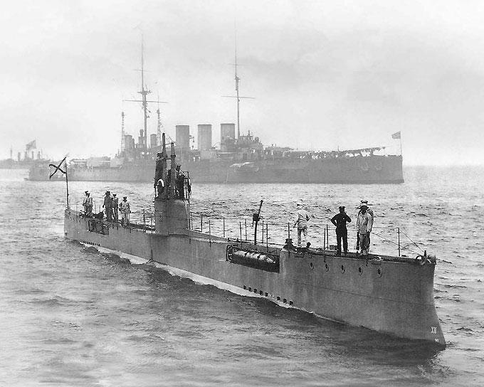 Первая субмарина царской России Акула