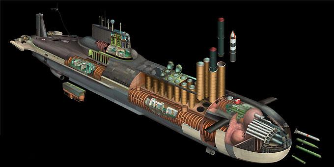 Вооружение самой большой подводной лодки в мире Акула