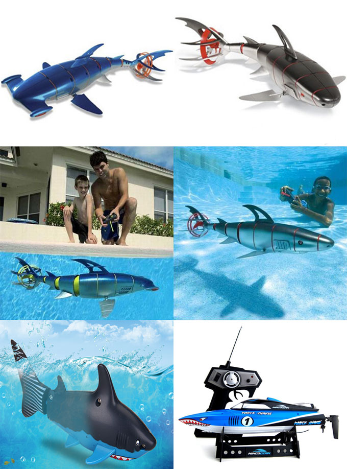 Фото - водоплавающие игрушки на управлении Акулы