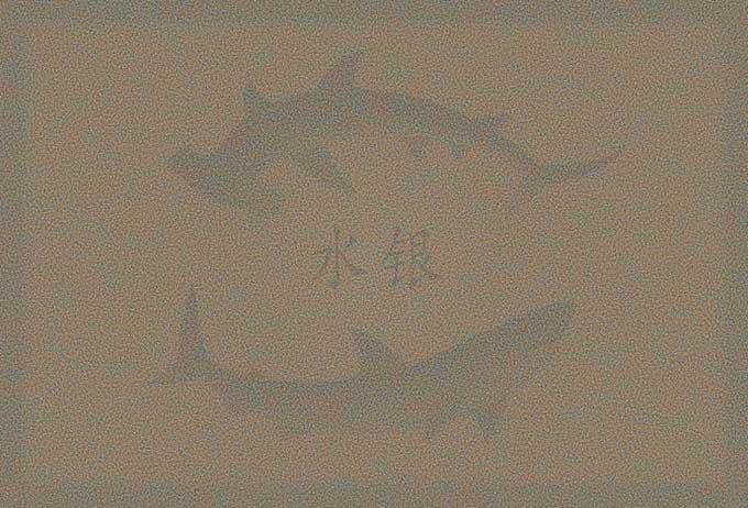 Картина Криса Джордана из акульих зубов