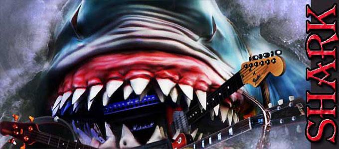 Акулы слушают тяжелую рок-музыку группы AC/DC