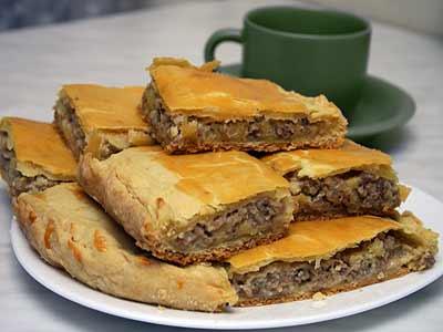 Рецепт - Пирог с картофельным пюре и фаршем из акулы