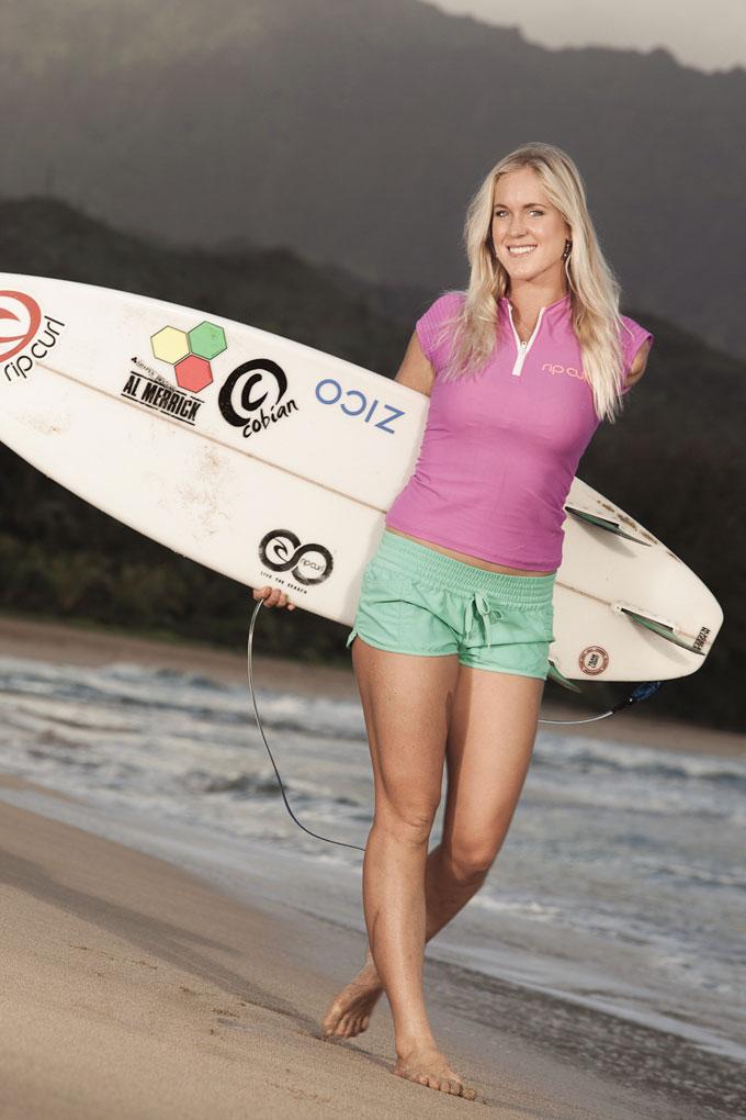 Бетани Гамильтон (Bethany Hamilton) - жертва нападения тигровой акулы
