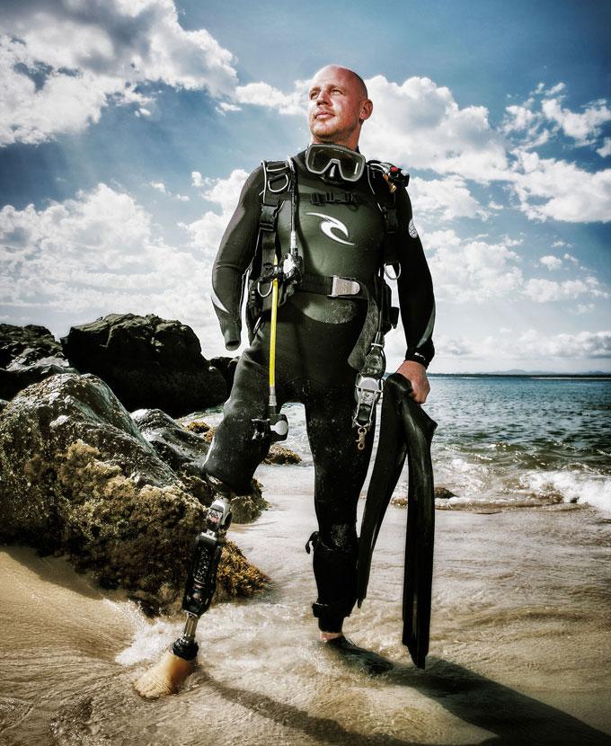Пол де Гелдер (Paul de Gelder) - жертва нападения бычьей акулы