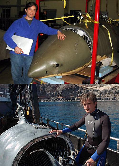 Фото: Фабьен Кусто и субмарина-акула