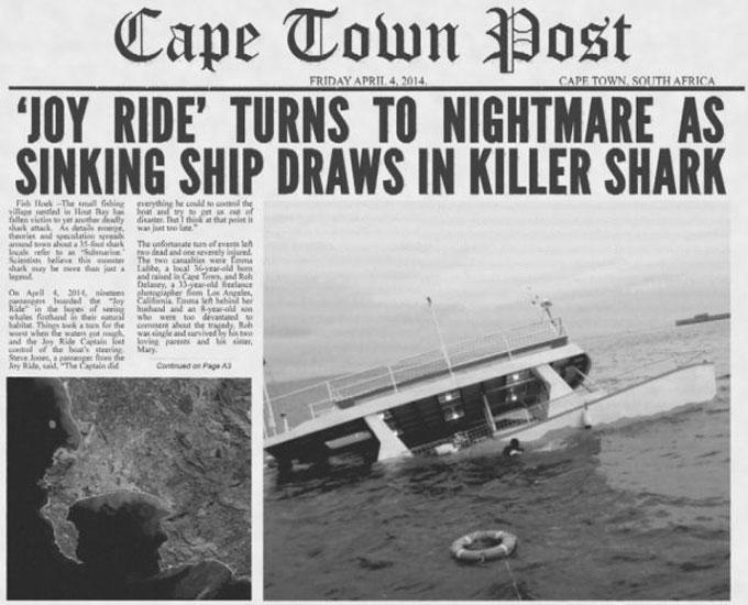 Гигантская акула Мегалодон потопила корабль